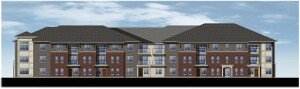Maple Grove Commons will feature 34 one-, 33 two-, and 13 three-bedroom apartments in two three-story buildings.