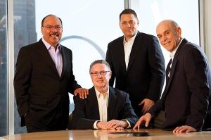 The firm is led by (from left) Tony Salazar, Kevin McCormack, Vince Bennett, and Richard Baron.