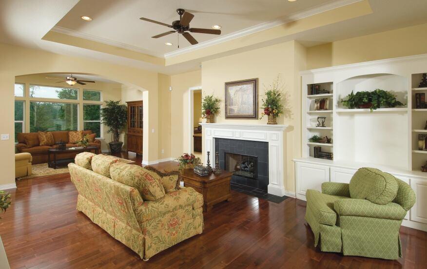 Overhead Design Interesting ceiling treatments help sell condos in Kalamazoo.