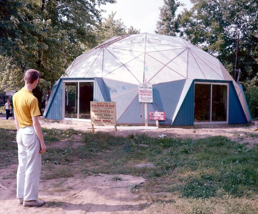 Buckminster Fuller's dome home in Carbondale, Ill. (circa 1960)