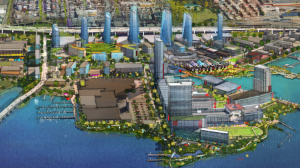 Sagamore Development's illustrated plan for Port Covington in South Baltimore.