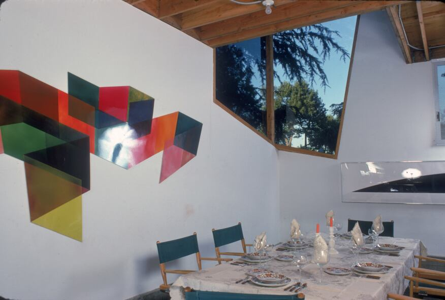 Frank Gehry's Santa Monica, Calif., house once featured director's chairs at the dining room table.