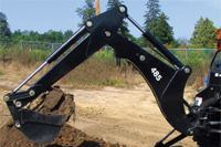 Paladin Light Construction Bradco 485 Backhoe