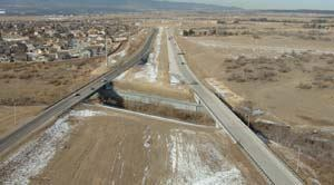 In 2002, Colorado DOT placed both concrete and asphalt on Powers Boulevard in Colorado Springs to determine the pros and cons of each pavement while each is exposed to the same weather, soil, and traffic conditions. The northbound side is concrete (right); southbound is asphalt. The study should be completed within the next five years. Photo: Gregg Gargan, CDOT