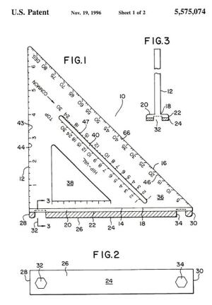 The author's patented wrenchsquare, which you will not find on store shelves.
