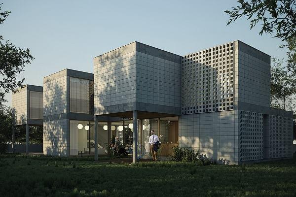 The Module House by Tatiana Bilbao Architects