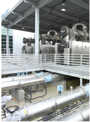 The Third Phase of the Orange County Groundwater Replenishment System  is UV Light With Hydrogen Per-Oxide For For Advanced Oxidation.
