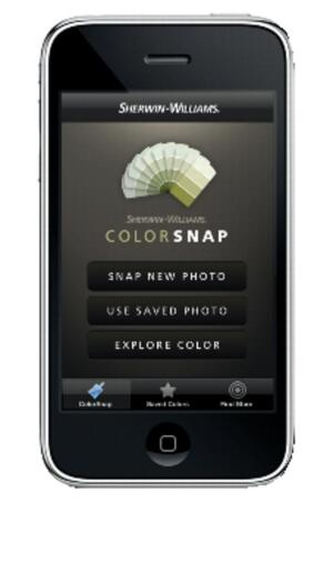 Sherwin-Williams' ColorSnap V.2 mobile application works with iPhones and Blackberrys.