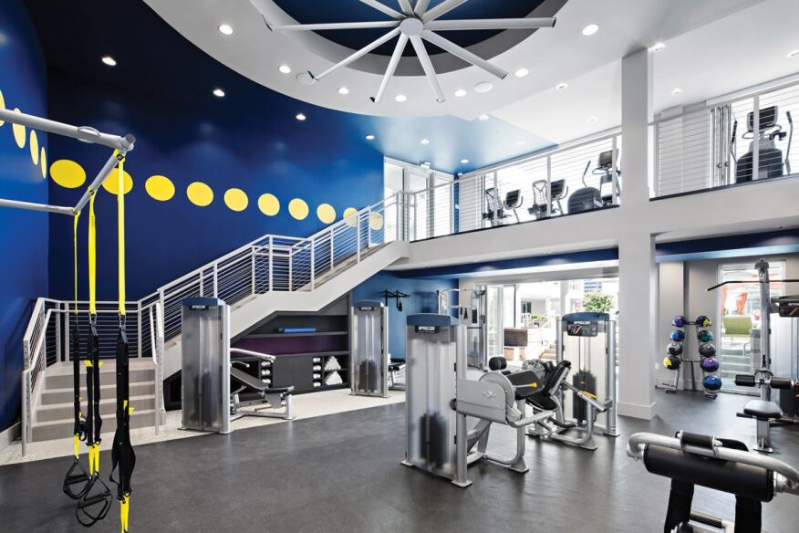 AMLI Residential's Lex on Orange community in Glendale, Calif., features a ­­two-story fitness space.