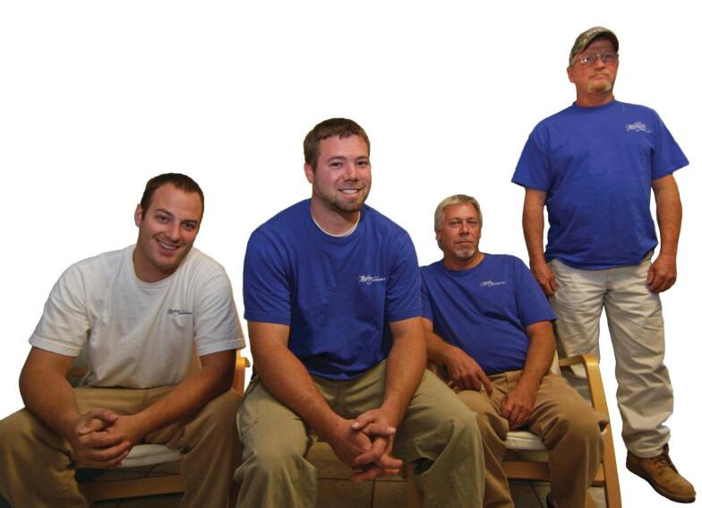 Left, Nathan Heinitz: As landscape project manager, Heinitz oversees selection and installation of landscaping, irrigation, and water management systems. Previously, he worked for a large landscaping company. Middle, Randy and Danny Sloss: This father and son masonry team has expertise in brick and stone construction, tuckpointing, chimney caps, and building retaining walls. The Sloss family business has a 55-year connection with Mosby Building Arts. Right, Robert Garrison: Mosby Building Arts is creating a dedicated crew for window and siding installations. Garrison, a veteran siding installer who owned his own company, specializes in fiber-cement and vinyl siding and custom brake work for fascia and flashing.