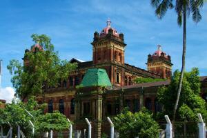 The Secretariat Building located in downtown Rangoon, Burma.
