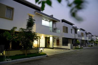 Modern House with Classical Touch, Villa at Kondapur, Hyderabad
