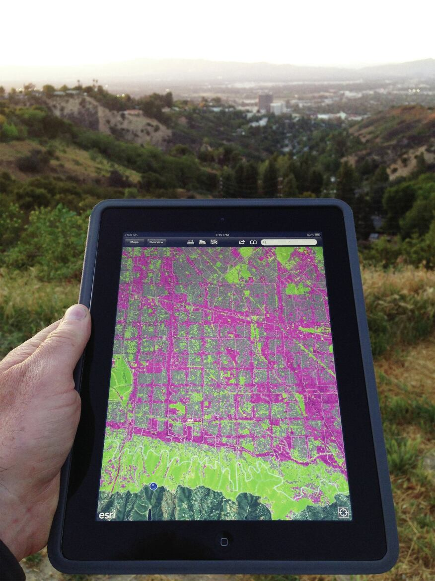 Users can access the maps in the field using a hand-held device.