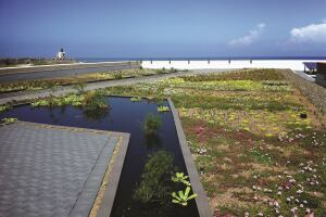 El Cuartel de Ballajá, Vegetated Green Roof    While the green roof market in Puerto Rico has grown by 25% in recent years, El Cuartel de Ballajá is the first historic structure to feature one.