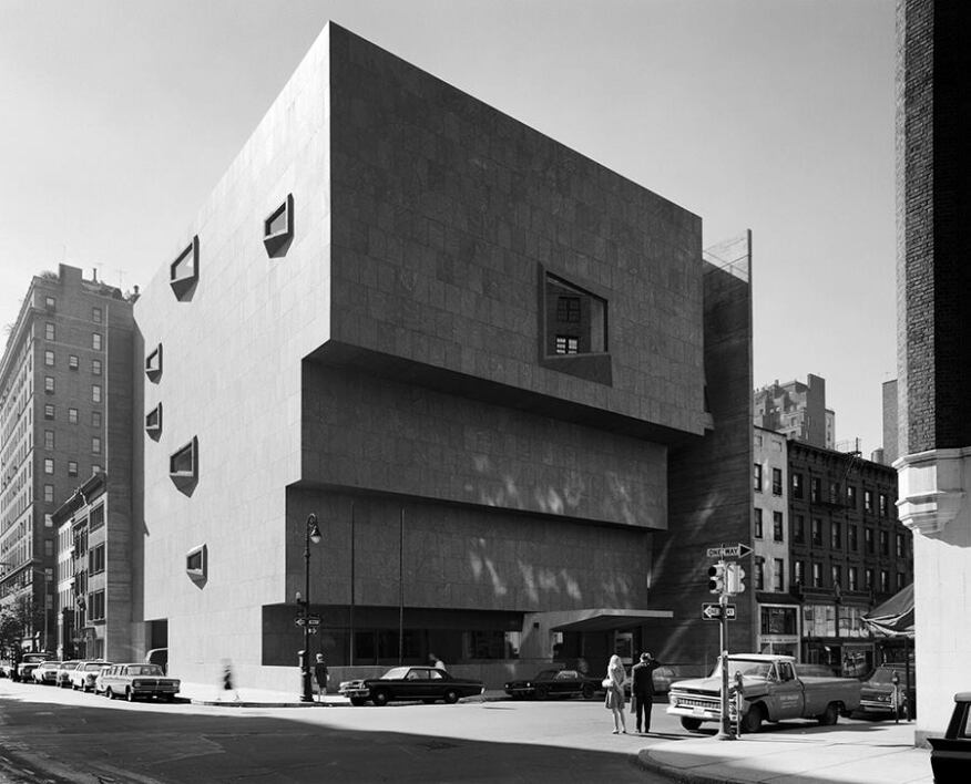 The Marcel Breuer-designed Whitney Musuem of American Art in 1966, the year it opened.