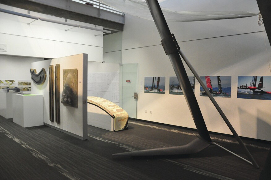 "Von Oeyen's November 2014 exhibition at the University of Southern California, ""Performative Composites: Sailing Architecture,"" included models and mock-ups of Greg Lynn's 42-foot trimaran as well as a carbon-fiber America's Cup hydrofoil."