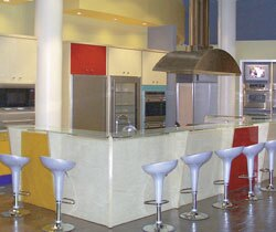 The Manhattan Center for Kitchen & Bath is a one-stop shop for product selections and includes working displays.