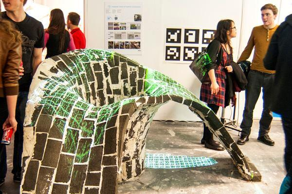 The Computer Vision & Freeform Construction cluster used digital guides to build two masonry vaults, one without the aid of an experienced craftsman. By frequently checking the position of the form against fixed markers on the wall, the group compared the built forms with the ideal modeled forms.