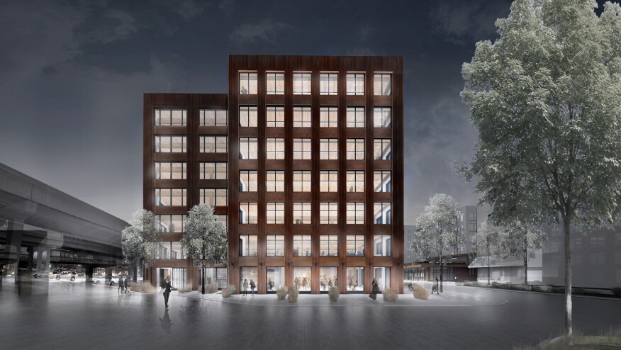 Designed by Michael Green Architecture, the seven-story T3 building (short for Timber, Technology, and Transit) will be the largest heavy-timber building in North America.