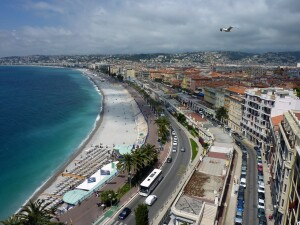 The city of Nice, France, located very close to Les Cedres in Saint Jean Cap Ferrat.