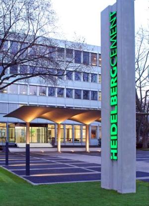 HeidelbergCement headquarters in Heidelberg, Germany.