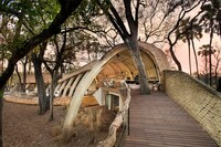 Sandibe Okavango Safari Lodge Wall Section