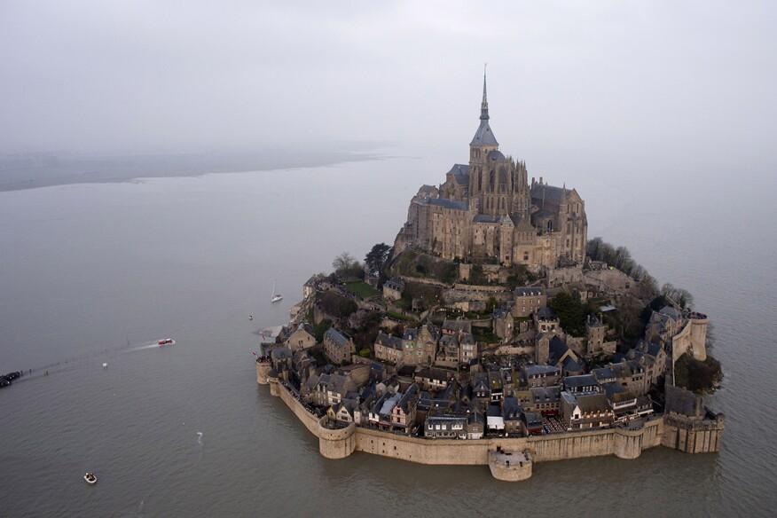 Mont Saint-Michel on Saturday, March 21.
