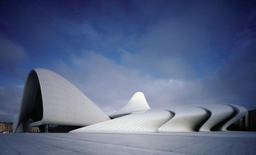 Zaha Hadid Architects (ZHA) developed the free-form curves of the Heydar Aliyev Cultural Center using Rhinoceros 3D.