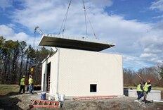 Precast concrete buildings