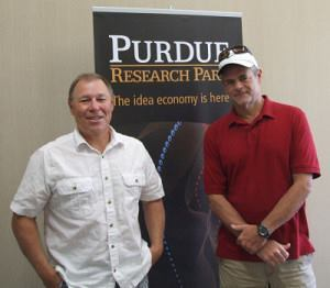 ShockAlarm's Brian Byrd (left) and Neal Branstetter are tenants at the Purdue Research Park, a business incubator that offers resources to get promising startups off the ground.