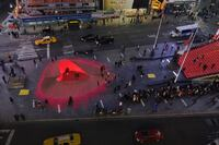 New York Firm Designs Lit Heart for Times Square Valentine's Day