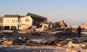 Hammered by the storm surge, oceanfront neighborhoods in Ortley Beach, N.J., have barely begun to recover.