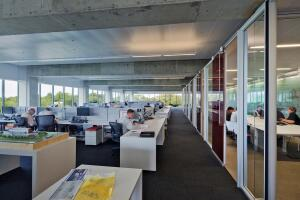 Perkins+Will's Atlanta office, seen here, won a 2012 COTE Top Ten Green award from the AIA, one of many such sustainable honors that the firm has received. The firm's merger with D.C.-based Envision Design furthers their sustainable mission.