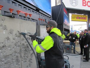 An SDS-max demolition hammer is used on jobs that don't require drilling.