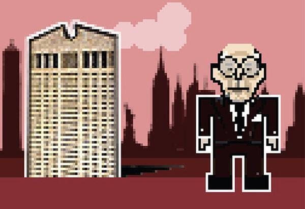 Philip Johnson, with the Sony Tower/AT&T Building.