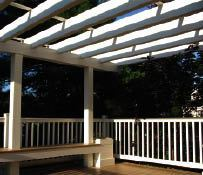 Figure 2. Midday sun on the coast in the warmer months is intense. Shade structures such as pergolas are great upsells that in the long run will improve your clients' satisfaction.