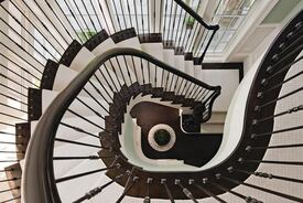 Traditional Staircase With a Dramatic Twist