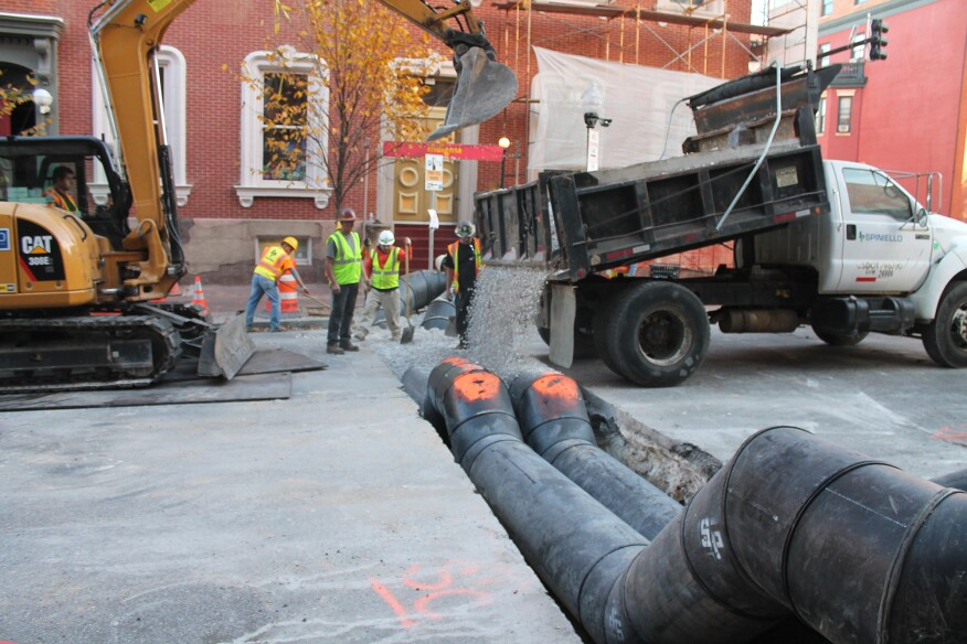 A sewer project in Baltimore