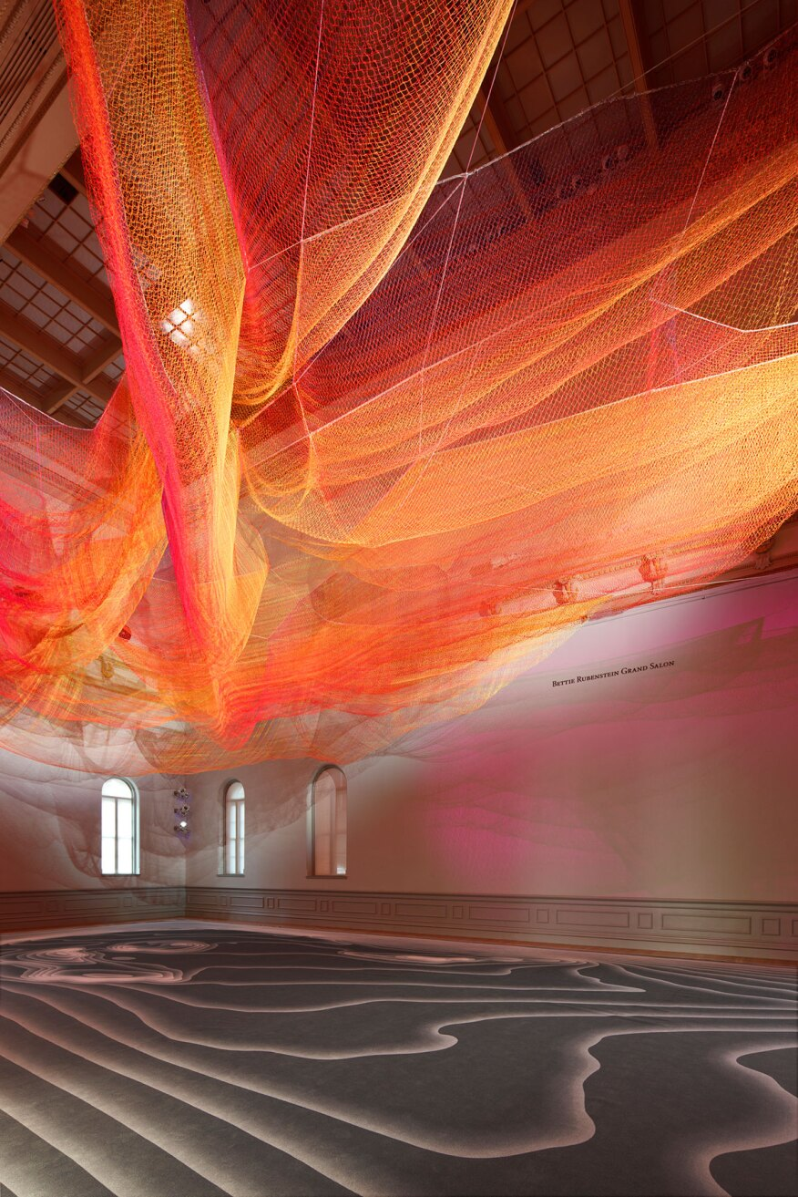 "The ""1.8"" installation, designed for the Smithsonian American Art Museum's Renwick Gallery's Grand Salon as part of its ""Wonder"" exhibit."