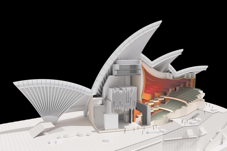 The Sydney Opera House's opera theater will be remodeled to expand the orchestra pit, improve acoustics, and enhance air circulation.