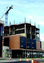 Davenport Masonry is doing the brickwork and air vapor barrier on the West Wing  addition of Sparrow Hospital, Lansing, Mich., which is scheduled for completion  next spring.