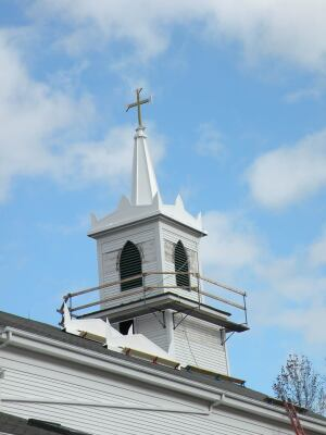 The aluminum steeple should last a million years or more.