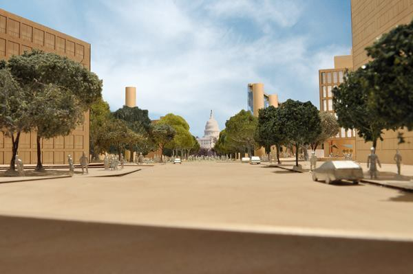 New framing of the U.S. Capitol vista and Maryland Avenue.