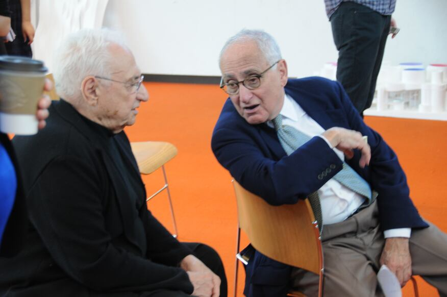 Yale Davenport Visiting Professor Frank Gehry and Robert A.M. Stern