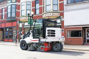 EPA recognizes street sweepers as a tool for reducing pollution. To help reduce water pollution using sweepers, it is recommenced to sweep often, were dirt is, prior to rain events and to sweep dry to remove fines.