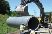 Sanitary sewer construction with polypropylene pipe