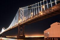 Watch the Bay Bridge Light Up