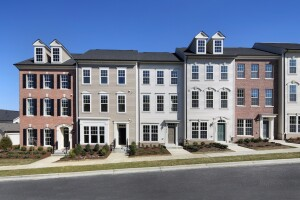 Townhouse model at Grapevine Ridge in Clarksburg for Miller & Smith
