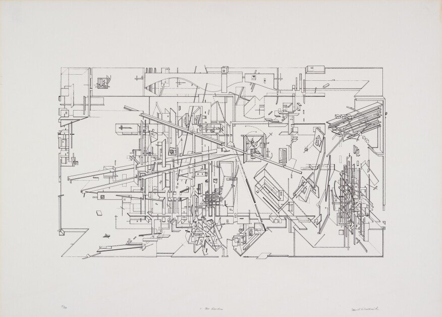 Daniel Libeskind, The Garden, 1979. © Daniel Libeskind. From the Collection of the Alvin Boyarsky Archive.