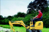Store rents small excavators